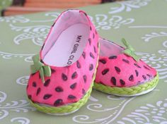 Watermelon Ballet Flats for American Girl by MyGirlClothingCo