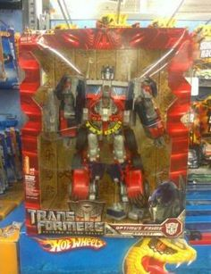 Transformers Revenge of The Fallen Optimus Prime Toy Swap