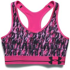 Under Armour Heatgear Alpha Print Sports Bra ($30) ❤ liked on Polyvore featuring activewear, sports bras, active wear, intimates, under armour, under armour sportswear and under armour sports bra