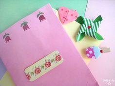 Con molinillo, corazón origami y pinza-helado