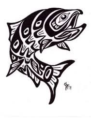 Salmon tattoo on my other wrist symbolizes that I have caught every species of salmon and again my love for fishing Salmon Tattoo, Trout Tattoo, Rhino Tattoo, Tattoo Fish, Deer Tattoo, Raven Tattoo, Arm Tattoo, Arte Haida, Haida Art