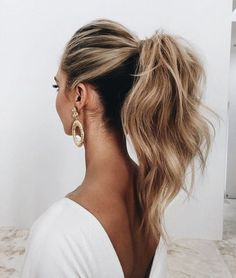 High tousled pony is an ultimate go to for any occasion and style