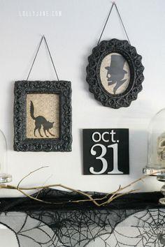 Easy tips for a DIY vintage Halloween mantel!