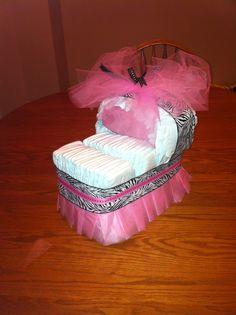 Diaper Crib for baby shower.