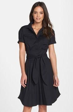 Cynthia Steffe 'Maya' Belted Poplin Fit & Flare Shirtdress (Nordstrom Exclusive) available at #Nordstrom