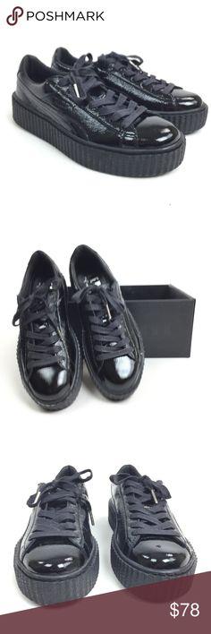 Fenty Pump Black Patent Leather Creepers Fenty by Puma black patent leather  creepers. Womens size bf3b3dd33