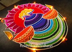 50 Attractive Rangoli Design (ideas) that you can make yourself or get it made during any occasion on the living room or courtyard floors. Rangoli Designs Peacock, Rangoli Designs Simple Diwali, Best Rangoli Design, Indian Rangoli Designs, Rangoli Designs Latest, Free Hand Rangoli Design, Rangoli Border Designs, Small Rangoli Design, Rangoli Patterns