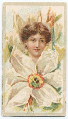 Beauties - Flower Girls ~ British American Tobacco Co. British American Tobacco, Decoupage, Victorian Women, New York Public Library, Vintage Ephemera, Print Ads, Daffodils, Vintage Advertisements, Vintage Prints