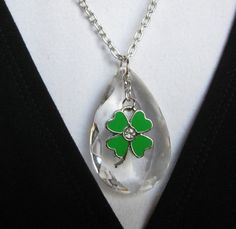 EMERALD ISLAND necklace (with vintage chandelier drop). $28.00.  Love, love, love!  http://www.etsy.com/listing/124446409/emerald-island?#