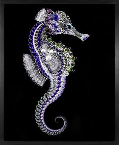 Jeweled Seahorse Brooch, by Garth Knight. High Jewelry, Jewelry Art, Jewelry Design, Jewellery, Beautiful Sea Creatures, Bijoux Art Nouveau, Ocean Creatures, Animal Jewelry, Vintage Brooches