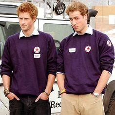 Prince Harry and Prince William. I just love to look at Prince Harry. Just... yumm :)