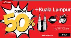 AirAsia Promo ! Dapatkan diskon langsung 50% untuk penerbangan menggunakan AirAsia ! Info Selengkapnya : http://ow.ly/UGtEt  #TiketPesawat #Airasia #Airpaz #Tiketmurah #Diskon #Promo #Travel #Traveling #Backpacker #Backpacking #JalanJalan #SriLanka #India #Indonesia #Holiday #Liburan