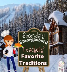 Be sure to check out Month #2 of the Secondary Smorgasbord Blog Hop.  The theme this month is holiday traditions....both at home and at school!