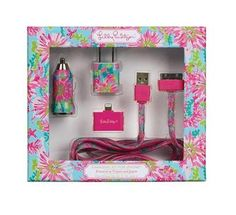 Lilly Pulitzer Charging Kit- car & wall charger that works for ALL iPhones