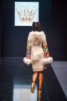 Handmade knitted dresscoat HUNDERTWASSER HOUSE by annalesnikova