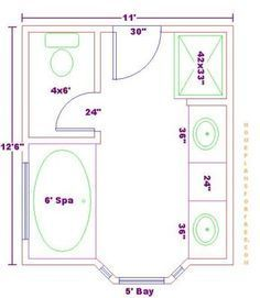 Contemporary Floor Plan By Steven Corley Randel, Architect   General  Sizing/space Requirements For New Master Bath Use As Reference | Pinterest  | Architects ...