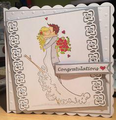 Stamping Bella - wedding card - Brett & Brenda get married Bella Wedding, Scrapbooks, Got Married, I Card, Wedding Cards, Pens, Stamping, Congratulations, Paper