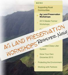 Kahuku, HI Preservation and Stewardship of Hawaii's Agriculture Lands Utilizing Federal, State and County Funds to Achieve Landowner and Community Goals.  Oahu RC is pleased to announce a series of wor… Click flyer for more >>