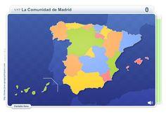 Mapa interactivo de España Comunidades de España. Juegos Geográficos - Mapas Interactivos