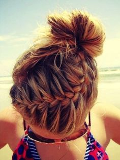 Super cool hairdo for the beach or for SHOPPING! :)