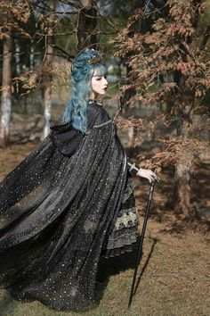 Arcadian Deer -Nightmare at Daybreak- Classic Gothic Lolita OP Dress (NOTE: Will Be Ready For Shipping in December! Lolita Fashion, Gothic Fashion, Real Costumes, Halloween Costumes, Nature Witch, Pose Reference Photo, Steampunk, Cosplay, Poses