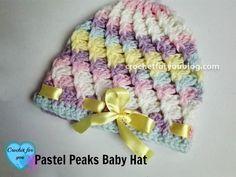 Pastel Peaks Crochet Baby Hat Free Pattern