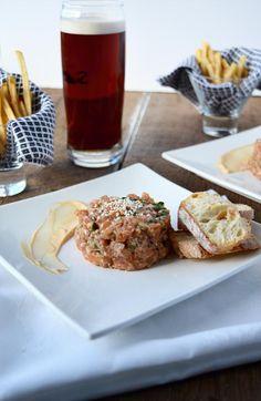 Tartare de saumon, mayonnaise épicée & érable