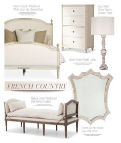 """""""French Country Bedroom"""" by kathykuohome ❤ liked on Polyvore featuring interior, interiors, interior design, home, home decor, interior decorating, Dauphine, bedroom, country and Home"""