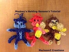 ▶ Rainbow Loom Monkey - YouTube