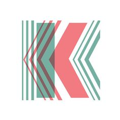 Geo Overlay K Typographic Print by nicoleap on Etsy, $29.00