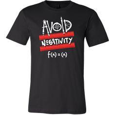 Funny Math Problem Avoid Negativity Nerdy T-Shirt Funny Math, Math Humor, Halloween Fonts, Math Problems, Nerdy, Tee Shirts, Mens Tops, Free, Products