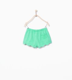 ZARA - KIDS - Organic cotton scalloped shorts