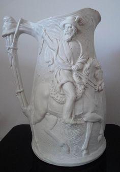 Large Parian Jug Commemorating The Victory Of General Garibaldi In 1864