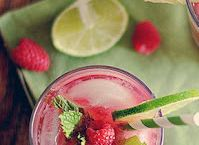 Raspberry Mint Mojitos