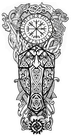 Sleeve Tattoos for Women Best Tattoo Sleeve Ideas For Women Fantastic Half and Full Sleeve Tattoos for Women images Ideas Designs for Girls 2019 2020 Celtic Sleeve Tattoos, Viking Tattoo Sleeve, Viking Tattoo Symbol, Norse Tattoo, Viking Tattoo Design, Tattoo Sleeve Designs, Viking Dragon Tattoo, Full Sleeve Tattoos, Tattoo Drawings