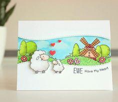 Birdie Brown Ewe Are the Best stamp set and  Die-namics - Amanda Korotkova #mftstamps