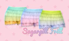 Sugarpill Frill - These do not replace any of the default colours. They are their own separate clothing item in CAS.