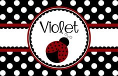 """Personalized Placemat - matches kids plate and dishsets laminated 12x18"""" ladybug"""