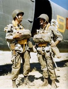82nd Airborne Division paratroopers in Tunisia prior to the invasion of Sicily - July 1943