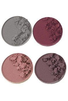 Type 2 Eye Shadow Compact: Pewter Silver-Shimmer Matte Dark Mauve-Matt Soft Pink-Shimmer Soft Light Lavender-Matte