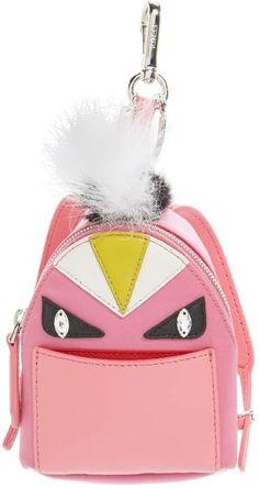e80a3af3ed Fendi  Monster  Genuine Fox   Nutria Fur Trim Backpack Bag Charm