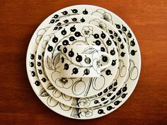 Paratiisi Pattern Dishes by Birger Kaipiainen, Arabia of Finland