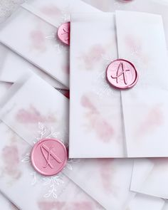 Wedding invitations with vellum wrap and bespoke initial wax seal stamp Groomsmen Proposal, Bridesmaid Proposal, Bridesmaid Bouquet, Bridesmaid Gifts, Wedding Favours, Wedding Stationery, Wedding Planner, Wedding Invitations, Invites