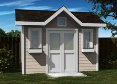 Keep all of your outdoor tools locked away with a stylish Side Entry Corner #Shed.