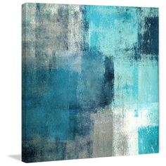 Meditation in Blue Painting Print on Wrapped Canvas