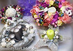#stroik na #święta Dekoracje Ozdoby świąteczne - #bozenarodzenie #dekoracje #świeczki #ozdoby