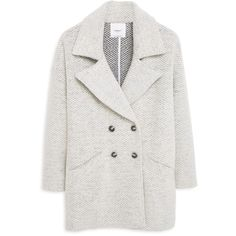 MANGO Bouclé Wool Coat featuring polyvore, fashion, clothing, outerwear, coats, woolen coat, lapel coat, long sleeve coat, mango coat and wool coat