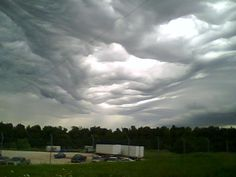 Unique 'Undulatus Asperatus' Clouds (or alternately, asperatus) is a rare, newly recognized cloud formation, that was proposed in 2009 as the first cloud formation added since cirrus intortus in 1951 to the International Cloud Atlas of the World Meteorological Organization. The name translates approximately as roughened or agitated waves.