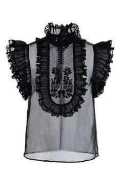 Ruffle Bib Silk Top by Philosophy di Lorenzo Serafini for Preorder on Moda Operandi