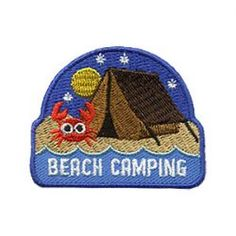 Girl Scouts Beach Camping Patch. What's more fun than camping at the beach? This adorable Beach Camping fun patch is a great reminder of your Girl Scout beach camping trip. Available at MakingFriends®.com